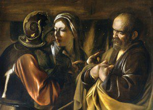 Bob-Evens-Denial_of_Saint_Peter-Caravaggio_(1610)-1