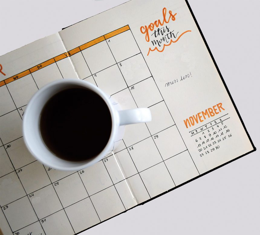 Picture of a mug and diary