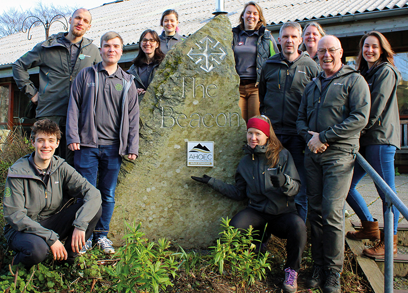 Photo of the Beacon Team outside the centre