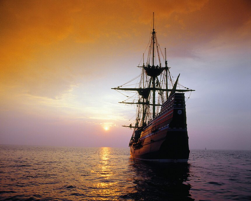 Picture of the Mayflower ship