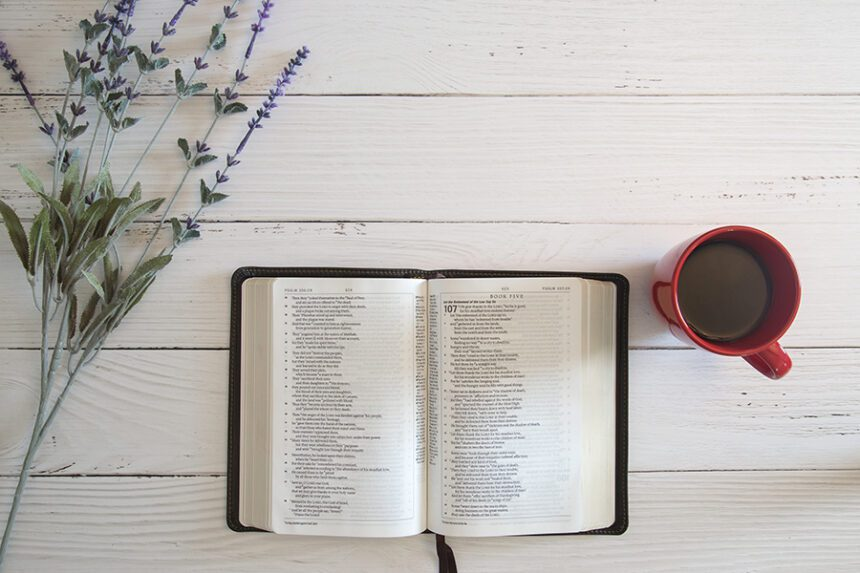 Picture of Bible and mug